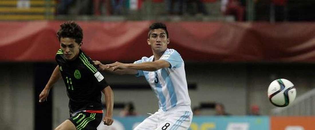 Partido entre México y Argentina en el Mundial Sub 17. Twitter