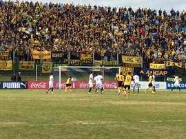 Partido entre San Lorenzo y Peñarol. OficialCAP