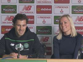 Partners Erik and Anne will be both playing for Celtic. Twitter
