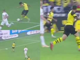 Sancho was at it again against Augsburg. Screenshot/beINSports