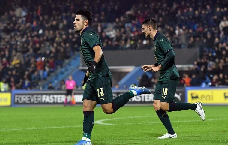 Cutrone permite a Italia soñar con el Europeo. Twitter/Vivo_Azzurro