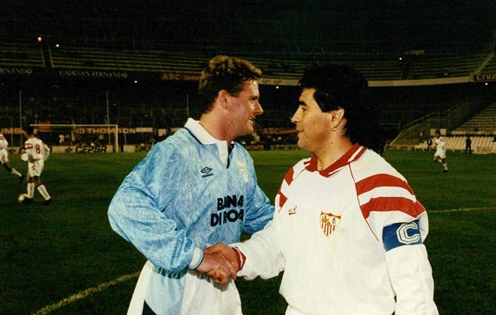 Gascoigne y Maradona sabían el estado real el uno del otro.