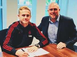Woolston lleva dos meses y medio entrenando con el United. United