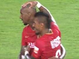 Paulinho marque de nouveau en Chine. Capture