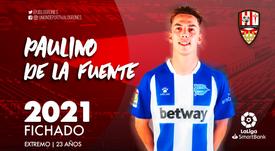 Paulino ya es del Logroñés. Twitter/UDLogrones