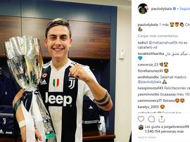 Dybala celebrou a conquista dançando. Instagram/paulodybala