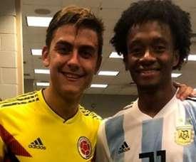 Dybala et Cuadrado ont échangé leurs maillots. Instagram/JuanCuadrado