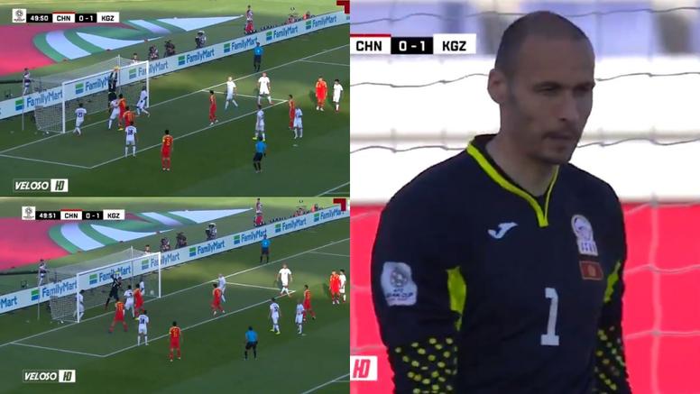 Pavel Matiash se metió el gol del empate. Captura/VelosoHD