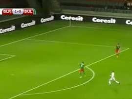 Espectacular gol de Bielorrusia. Twitter