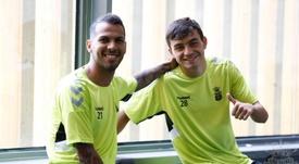 Pedri se reincorporó al trabajo con Las Palmas. Twitter/UDLP_Oficial