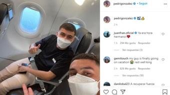 Por fim, as merecidas férias de Pedri. Instagram/PedriGonzalez