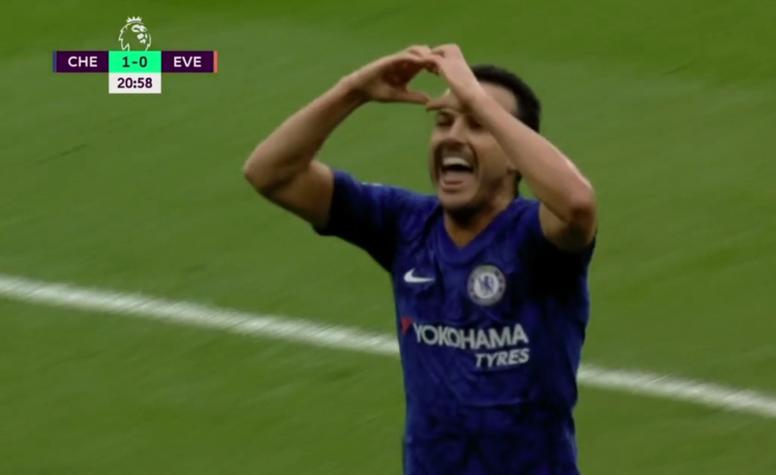 Pedro was back scoring. Screenshot/DAZN