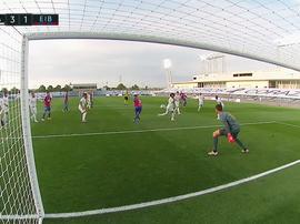 Eibar réduit le score avec un petit pont sur Courtois. Capture/Movistar+