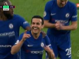 Chelsea est inarrêtable cet après-midi. Capture/ESPN