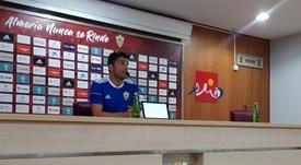 Pedro Emanuel dice que el Rayo es un equipo de Primera. Twitter/U_D_Almeria