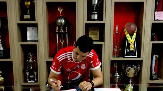 Pedro Franco ya es jugador de América de Cali. Twitter/Americadecali