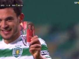 El Sporting de Portugal marcó primero ante el Rio Ave. Captura/VSPORTS