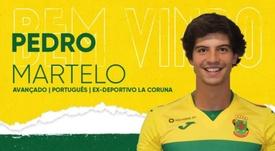 Pedro Martelo, nuevo jugador del Paços de Ferreira. Twitter/fcpf