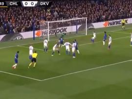 Pedro met Chelsea devant au score. Capture/Twitter