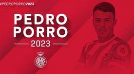 Pedro Porro renueva con el Girona hasta 2023 un día después de su debut. Twitter/GironaFC