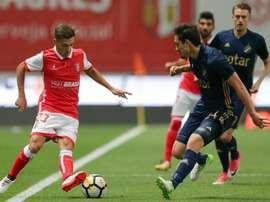 Braga joga presença na Liga Europa. Twitter/maisfutebol