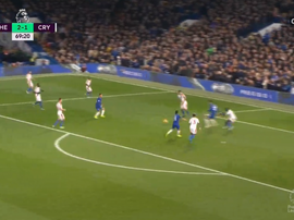 Pedro scored Chelsea's third against Crystal Palace. Captura/CanalSport2