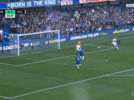 Pedro puts Chelsea into the lead. Captura/RMCSport