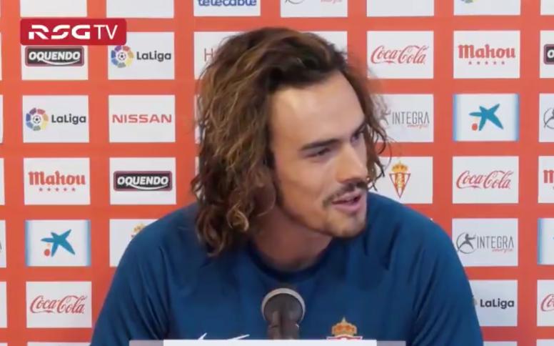 Pelayo Suárez quiere asentarse en el primer equipo. RealSporting