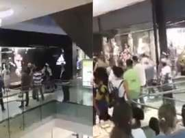 Brutal pelea entre hinchas de Platense y Chacarita. AméricaTV