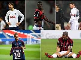 Pellegri, Vinicius, Llorente, Neymar and Bonucci. BeSoccer