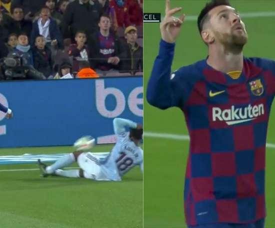 El Barcelona se adelantó ante el Celta. Captura/Movistar