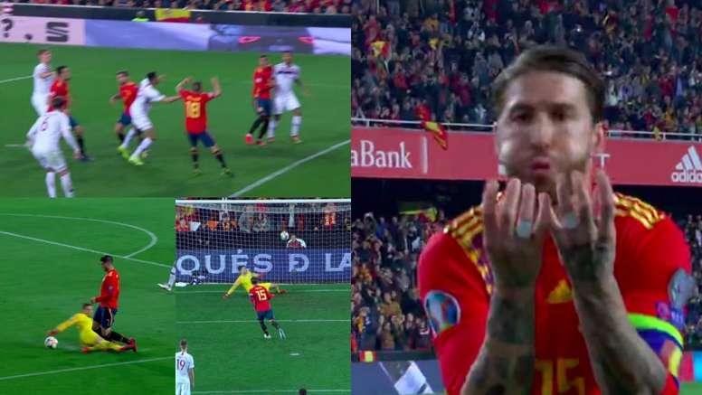 Nuevo gol a lo Panenka de Ramos. Capturas/RTVE
