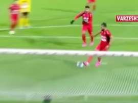 Golazo en la Liga de Irán desde el punto de penalti. Youtube