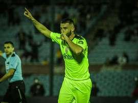 Peñarol logró su segunda victoria consecutiva del Clausura. Twitter/OficialCAP