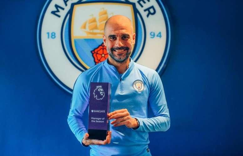 Guardiola eleito o melhor treinador da Premier. Twitter/PremierLeague