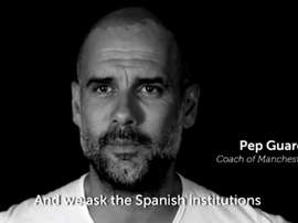 Guardiola has once again shown his commitment to the Catalan cause. Twitter/Jcuixart