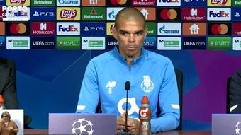 Pepe espera que el Oporto sepa mantener a raya a los atacantes del rival. Captura/FCPorto