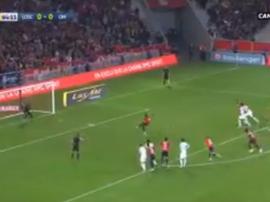 Pépé ouvre le score sur penalty. Capture/Canal +