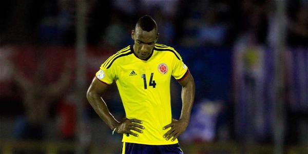 El futbolista colombiano, ex del Atleti, Luis Amaranto Perea, en un partido con su selección.Twitter