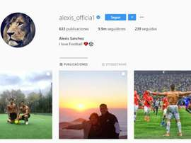 Alexis Sanchez deixou de ser do Manchester United... no Instagram. Alexis_officia1