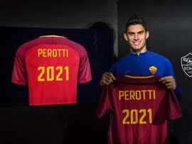 Perotti signs Roma extension. ASRoma