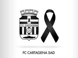 El Cartagena dio su pésame. Twitter/FCCartagena_efs