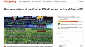 La petición tiene ya muchas firmas. Captura/change.org