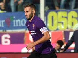 La Fiorentina non rinuncia alla fascia da capitano personalizzata. EFE/Claudio Giovannini