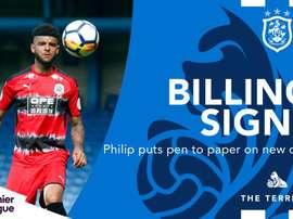 El Huddersfield Town se asegura los servicios de Billing. HuddersfieldTown