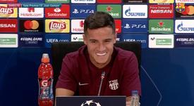 Coutinho rêve de Ligue des champions. capture/BarçaTV