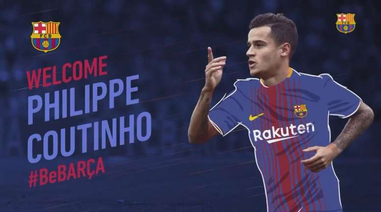 Coutinho joins Barcelona. Twitter