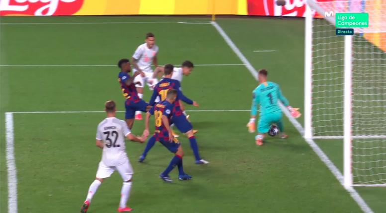 Coutinho scored two for Bayern. Screenshot/MovistarLigadeCampeones