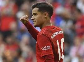 Coutinho marca seu primeiro em goleada do Bayer. AFP