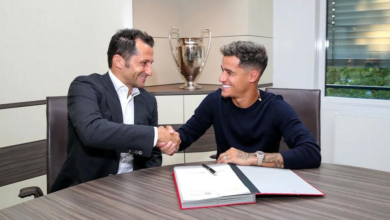 Coutinho y Salihamidzic hablaron de la llegada del brasileño. FCBayern